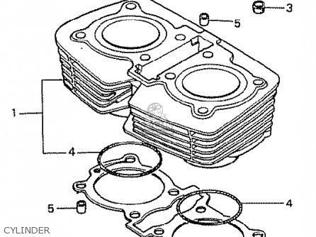 Honda Cb400tii 1979 (z) General Export Mph parts list