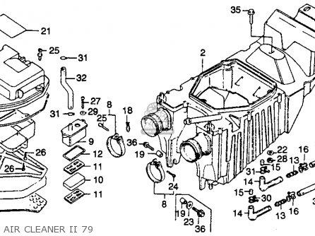 Honda Cb400tii Hawkii 1978 Usa parts list partsmanual