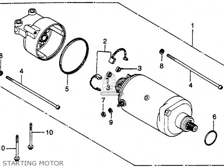 Honda CB400TII HAWKII 1978 USA parts lists and schematics