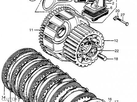 Honda Cb450 Super Sport 450 1968 Cb450k1 Usa parts list