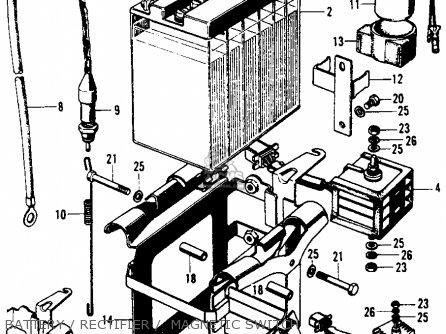 Honda Cb450 Super Sport 450 K5 1972 Usa parts list