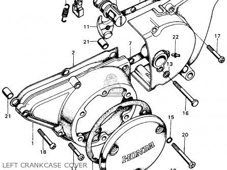 Honda Cb450 Super Sport 450 K6 1973 Usa parts list