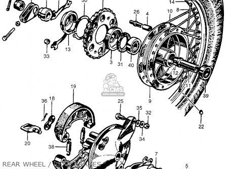 Honda Cb450k0 Black Bomber 1965 Usa parts list partsmanual