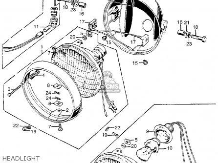 Honda Cb450k1 1968 Usa parts list partsmanual partsfiche