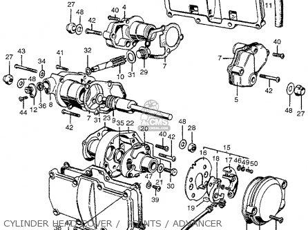 Honda Cb450k2 1969 Usa parts list partsmanual partsfiche