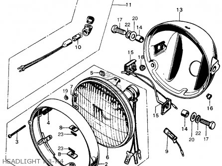 Honda Cb450k3 1970 Usa parts list partsmanual partsfiche