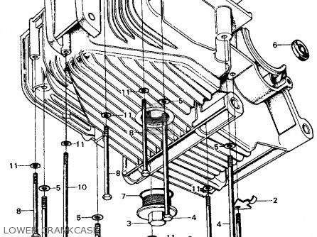 Honda Cb450k4 1971 Usa parts list partsmanual partsfiche
