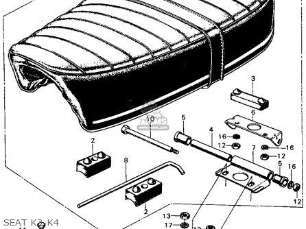 Honda CB450K4 1971 USA parts lists and schematics