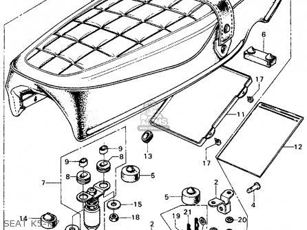 Honda Cb450k5 1972 Usa parts list partsmanual partsfiche