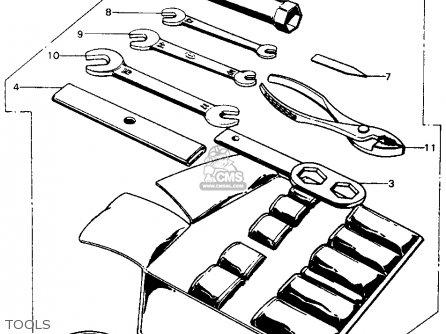 Honda CB450K5 1972 USA parts lists and schematics