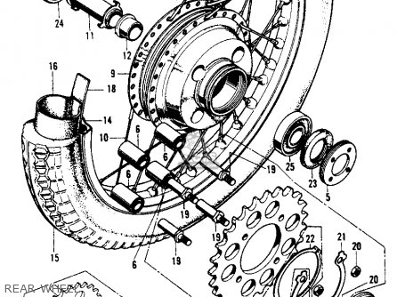 Honda CB450K6 1973 USA parts lists and schematics