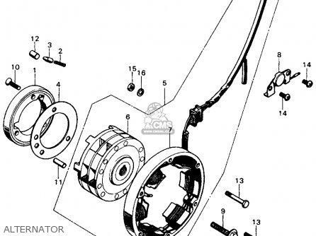 Honda CB450K7 1974 USA parts lists and schematics