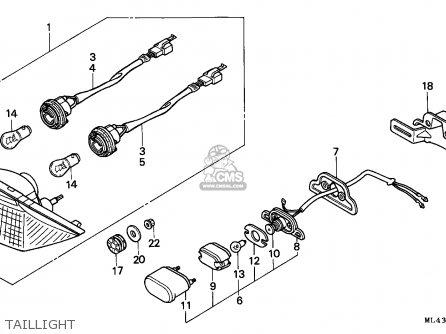 Honda Cb450s 1988 (j) Canada parts list partsmanual partsfiche