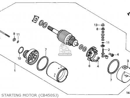 Honda CB450S 1988 (J) GERMANY parts lists and schematics