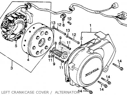 Honda Cb450sc Nighthawk 1982 (c) Usa parts list