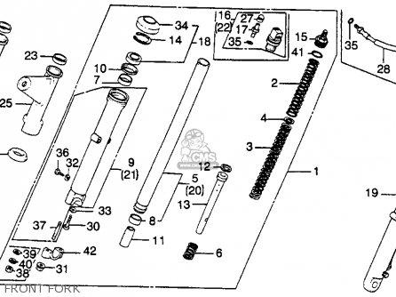 Honda Cb450sc Nighthawk 1985 (f) Usa California parts list
