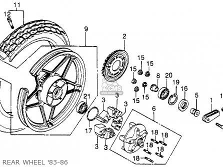 Honda CB450SC NIGHTHAWK 1986 (G) USA CALIFORNIA parts