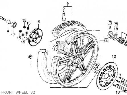Honda Cb450sc Nighthawk 450 1982 (c) Usa parts list