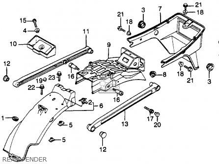 Honda CB450SC NIGHTHAWK 450 1983 (D) USA parts lists and