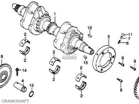 Honda Cb450t Hawk 1982 (c) Usa parts list partsmanual