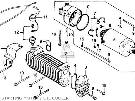 Honda CB450T HAWK 1982 (C) USA parts lists and schematics