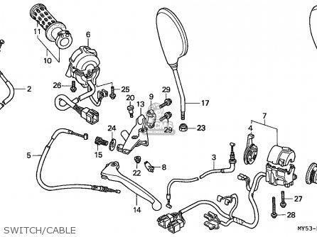 Honda CB500 1994 (R) GERMANY / KPH 27P parts lists and
