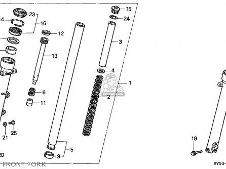 Honda CB500 1994 (R) / KPH parts lists and schematics