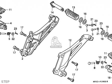 Honda Cb500 1994 (r) / Kph parts list partsmanual partsfiche