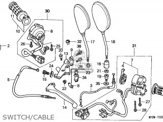 Honda CB500 1997 (V) ENGLAND parts lists and schematics