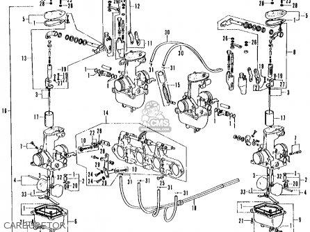 Honda Cb500 500 Four K1 1972 Usa parts list partsmanual