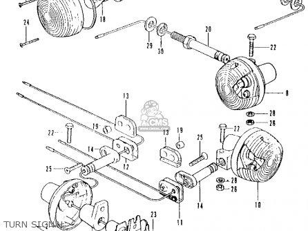 Honda Cb500 500 Four K2 1973 Usa parts list partsmanual