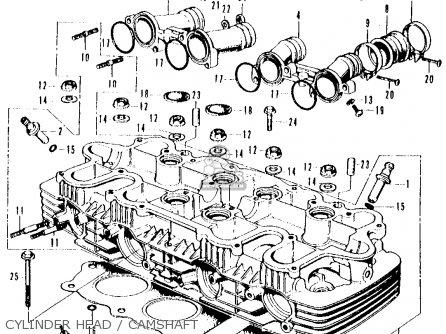 Honda CB500K0 FOUR 1971 USA parts lists and schematics