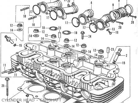 Honda Cb500k0 Four Australia parts list partsmanual partsfiche