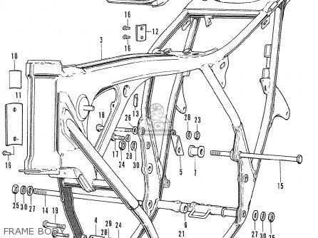 Honda CB500K0 FOUR FRANCE parts lists and schematics