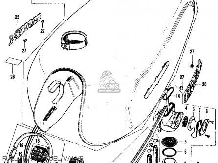 Honda Cb500k1 Four 1972 Usa parts list partsmanual partsfiche