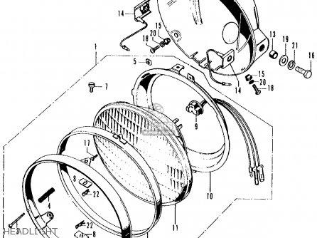 Honda CB500K1 FOUR 1972 USA parts lists and schematics