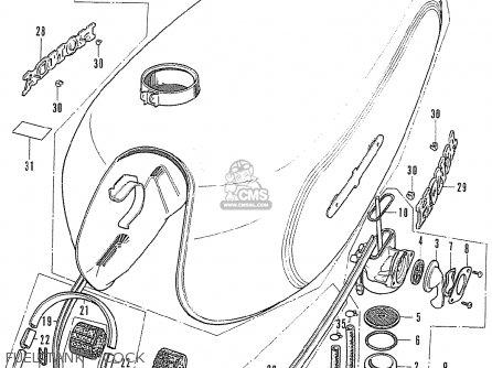 Honda Cb500k1 Four France parts list partsmanual partsfiche