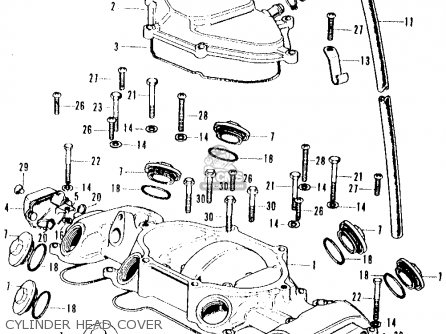 Honda CB500K2 FOUR 1973 USA parts lists and schematics