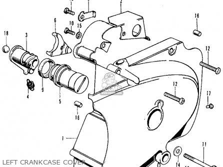 Honda CB500K2 FOUR 1973 USA parts lists and schematics