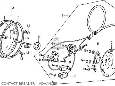Honda Cb500k3 Four European Direct Sales parts list
