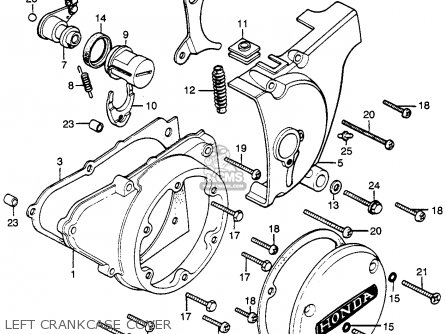 Honda Cb500t 500 Twin Dohc 1976 Usa parts list partsmanual