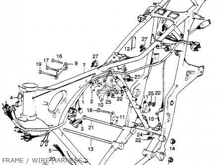 Honda Cb500t 500 Twin Dohc K0 1975 Usa parts list