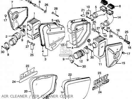 Honda CB500T TWIN DOHC 1975 USA parts lists and schematics