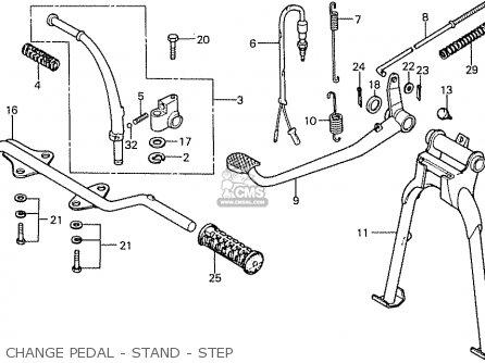 Honda Cb50f Belgium parts list partsmanual partsfiche