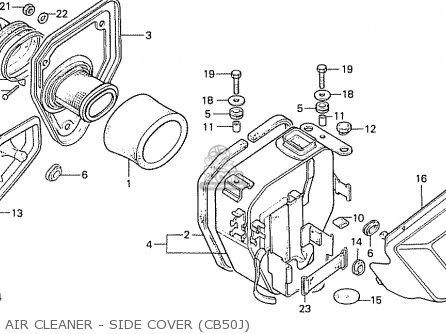 Honda Cb50j Austria parts list partsmanual partsfiche