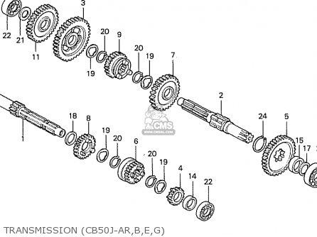 Honda Cb50j Belgium parts list partsmanual partsfiche