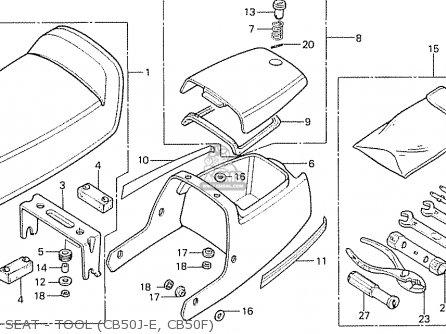 Honda CB50J ENGLAND parts lists and schematics