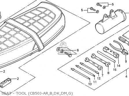 Honda CB50J GENERAL EXPORT / MPH parts lists and schematics