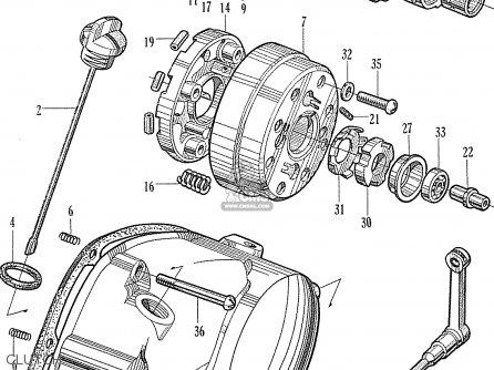 Honda Cb50m France (140501) parts list partsmanual partsfiche