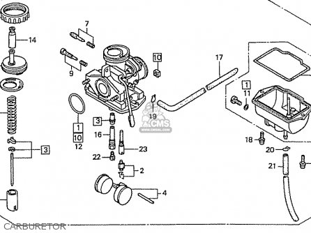 Honda Cb50v Dream 50 parts list partsmanual partsfiche